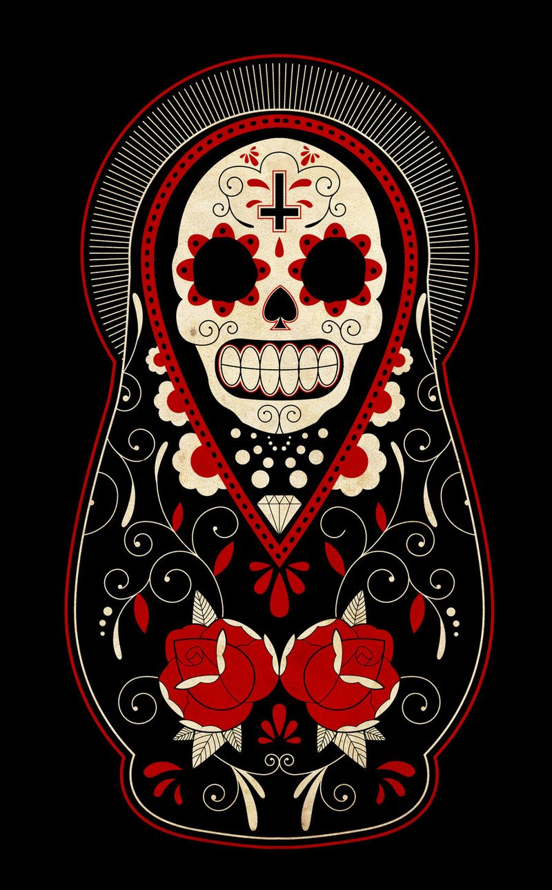 Day_of_the_dead_russian_dolls_by_paulorocker-d3985wo